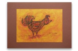 Ptaszek nr 4- rysunek dekoracyjny