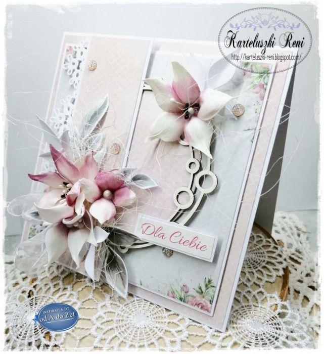 Kartka z pudełkiem z okazji urodzin, imienin 003 - Z urocza rameczką