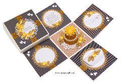 Box ślubny z tortem w kolorach art déco
