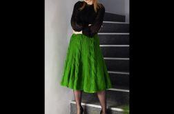 różne kolory - spódnica z warkoczami