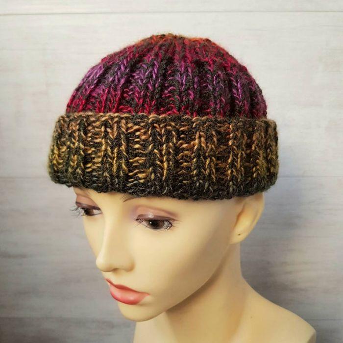 Kolorowa czapka dokerka - męska czapka