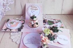 Exploding box urodzinowy z tortem Lady GOTOWY