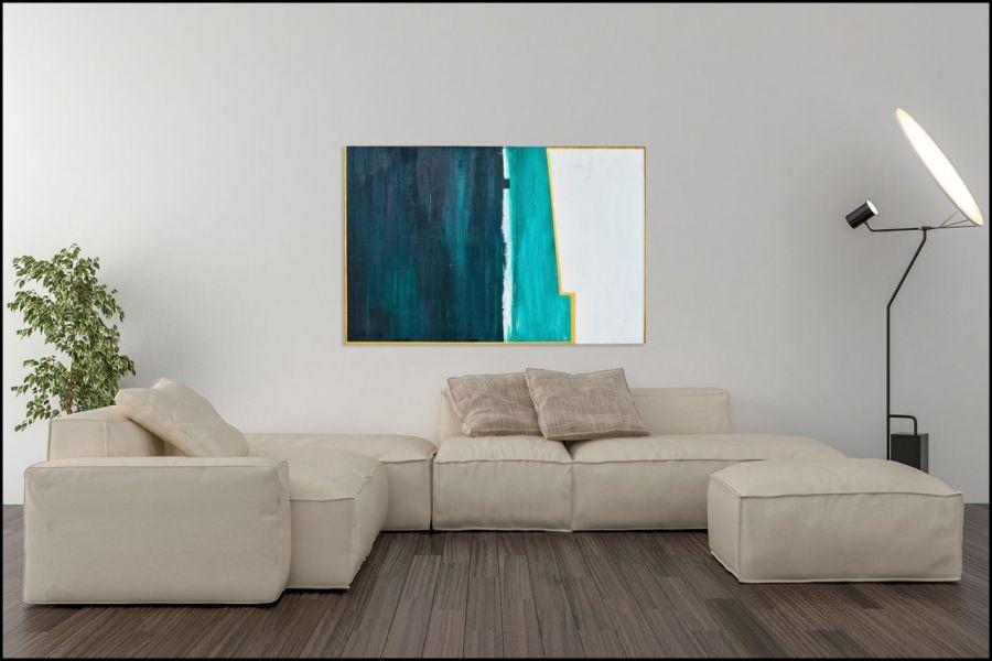 """Obraz Abstrakcja duży 75x115 cm """"Horyzont"""""""
