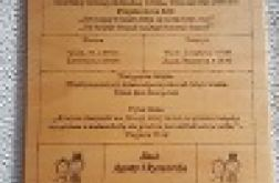 DREWNIANE KARTKI Z KALENDARZA HANDMADE