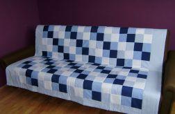 narzuta patchwork niebieska