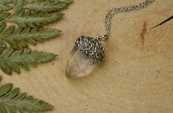 Wisiorek talizman surowy kryształ górski