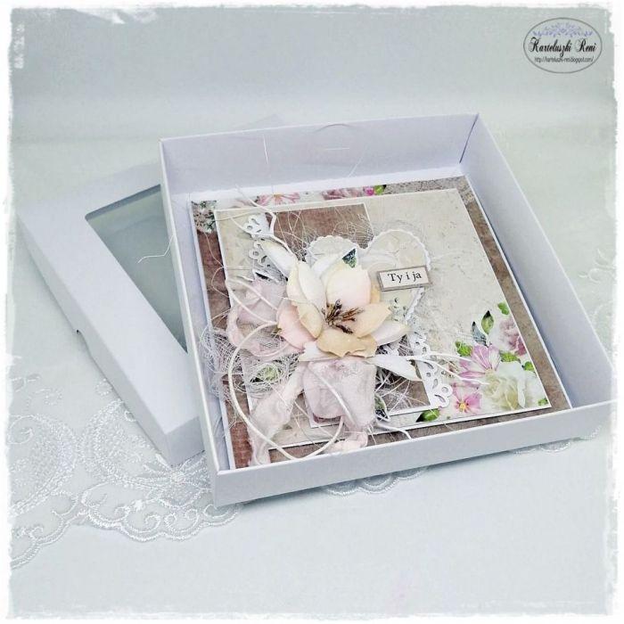 Kartka z sercem - W pudełeczku