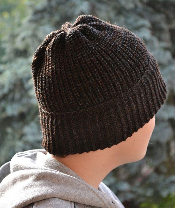 Ciepła melanżowa czapka wywijana