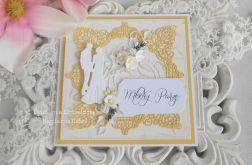 Ślubna kartka w kopercie 08