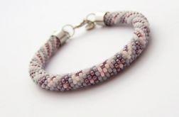Bransoletka wąż fioletowo-szaro-różowa