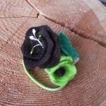 Opaska do włosów i gumka z filcu seledyn