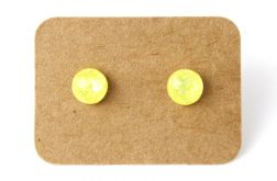 Małe koczyki sztyfty żółte