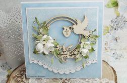 Pamiątka chrztu dla chłopca-Gołębica