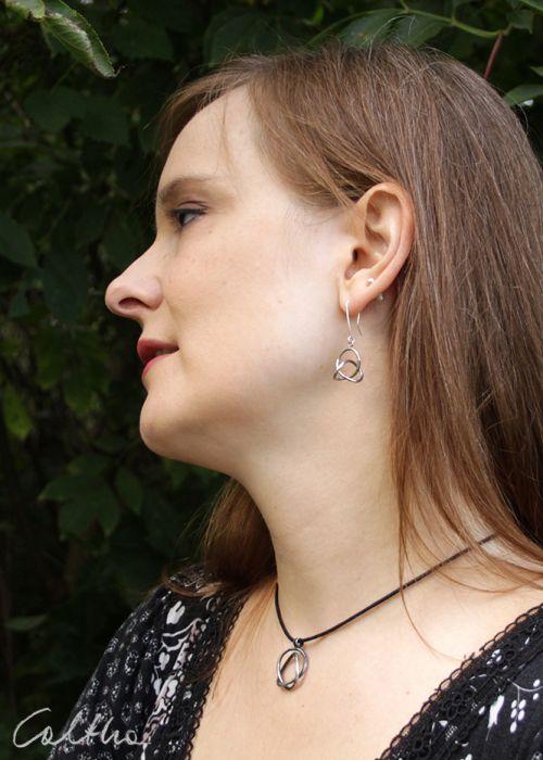 Zaplątane - srebrne kolczyki 180204-01 - Srebrna biżuteria