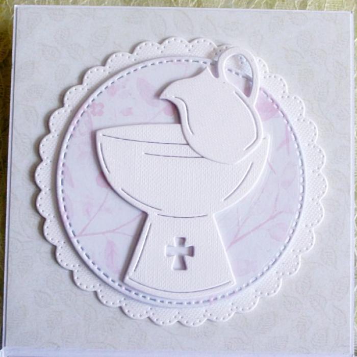Biały exploding box na chrzest z aniołkiem.4