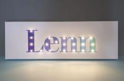 Personalizowany obraz LED -pastelowy błękit