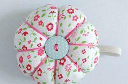 Poduszka na igły igielnik kwiatki