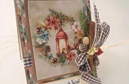 Lampion z cynamonem - kartka świąteczna 1