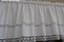 Biały lambrekin AŻUR - wzór 1