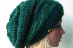 czapka w zieleniach