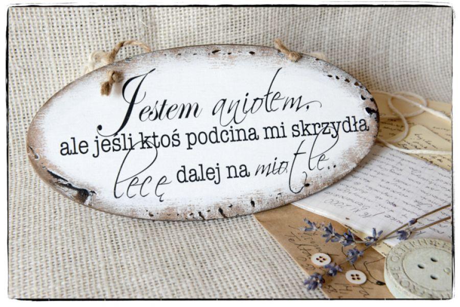 Szyld Tabliczka z napisem ~Jestem aniołem...~