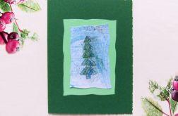 Kartka  świąteczna zielona minimalizm nr 67