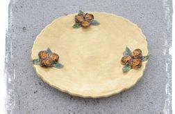 Okrągła patera z cieniowanymi różami