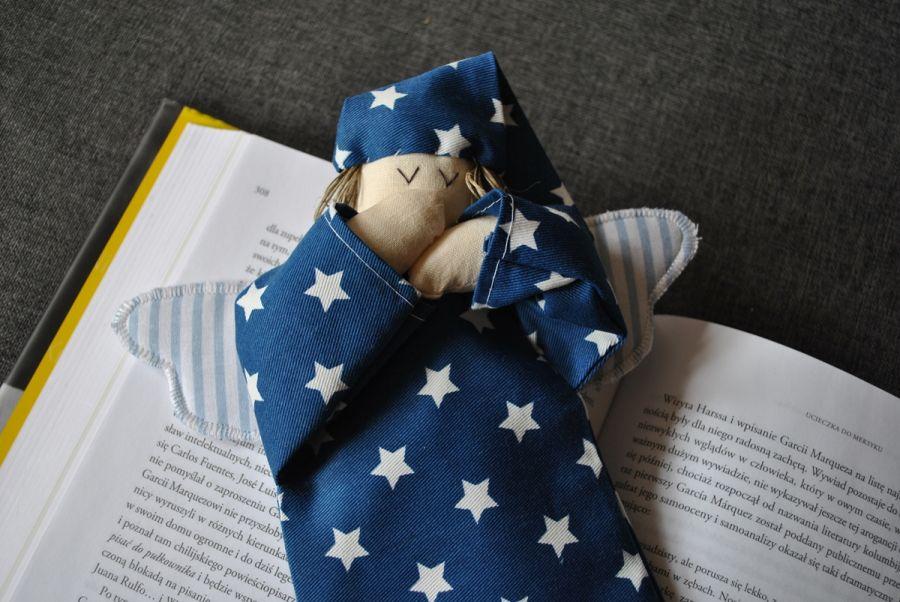 Zakładka do książki - anioł granatowy