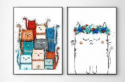 Zestaw 2 ilustracji, Koty