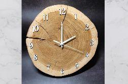Zegar z plastra drewna - dąb bez kory 30 cm