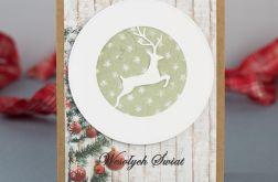 Kartka bożonarodzeniowa z jelonkiem