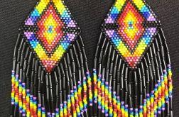 Rainbow - tęczowe kolczyki w stylu boho