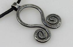 Zawijasy - srebrny wisior 180419-03