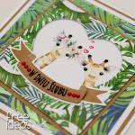 Egzotyczna kartka ślubna żyrafy KS1929 - egzotyczne