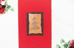 Kartka świąteczna czerwona minimalizm 76