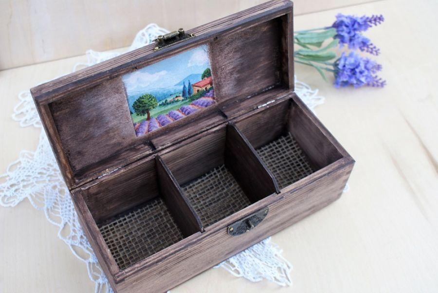 Herbaciarka z  pejzażem