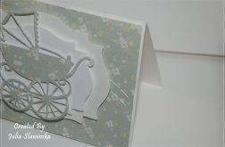 POWYSTAWOWA Kartka na chrzest pastelowa