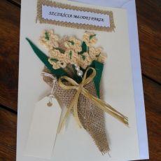 kartka na ślub, bukiet
