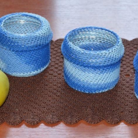 Niebieskie słoiczki