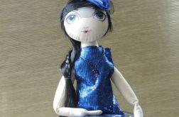 lalka tekstylna-Oh lala, Lola chabrowa- lalka tekstylna