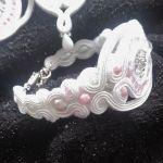 biżuteria Sutasz Ślubna~~Biel i Róż