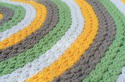 Dywanik okrągły - lato - sznurek 80 cm