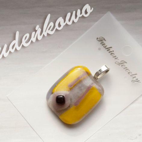 Fiolet z żółcią wisiorek