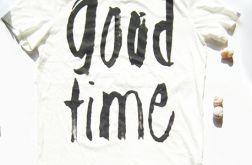 XL koszulka z optymistycznym napisem