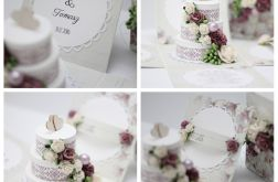 Pudełko ślubne fiolet