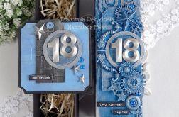 Osiemnastkowe pudełko na butelkę i kartka 171