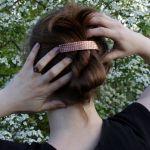 Rybia łuska - miedziana klamra do włosów 210423-01 - Metalowa spinka do włosów