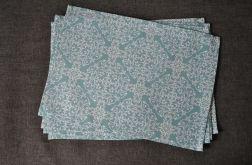 4 Podkładki pod talerze Błękitne ornamenty