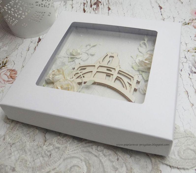 Na mostku - kartka z pudełkiem
