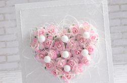 Ślubne kwiatowe serce - cieniowane róże